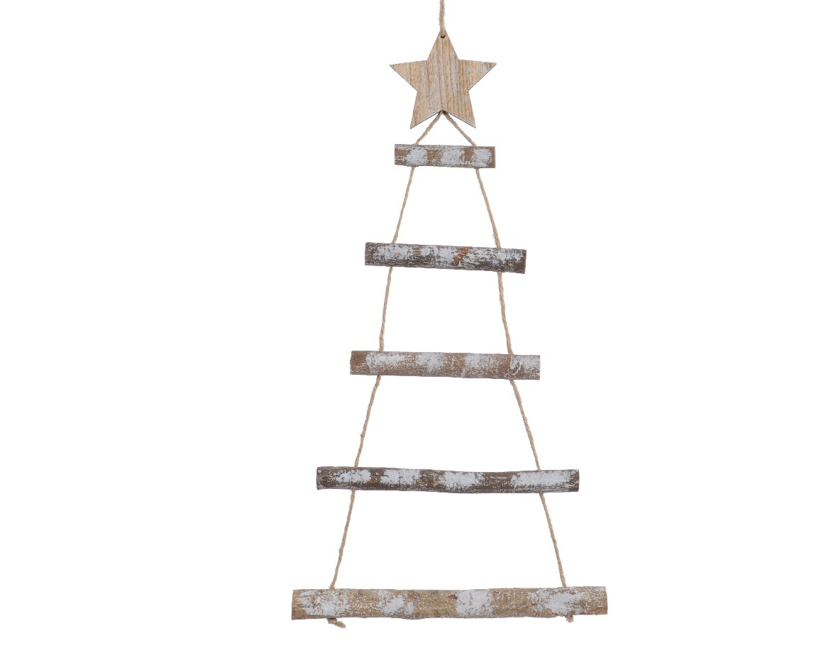 Alberi Di Natale In Legno Da Appendere : Albero di natale stilizzato in legno cm