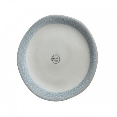 Piatto in Terracotta con Bordo Lucido Blu 20 cm