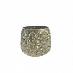 Portacandela Effetto Diamantato 7 cm