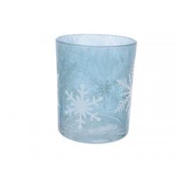 Portacandela con Fiocchi di Neve 8 cm