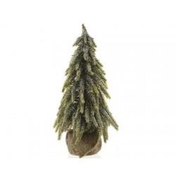 Mini Albero di Natale con Sacco in Juta 35 cm