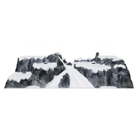 Paesaggio Pista da Sci 120 x 40 x 25 cm