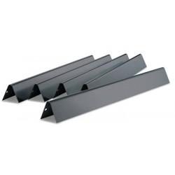 Set di 5 Barre Flavorizer in Acciaio Smaltato per Genesis Serie 300 fino al 2011 (Manopole Ripiano Laterale) Weber Cod. 7539
