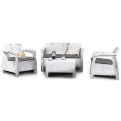 Keter Set Lounge CORFU' Bianco