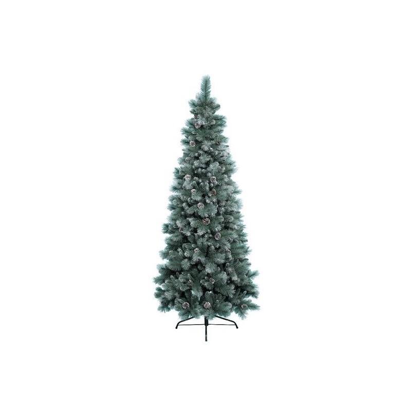 Albero Di Natale Diametro 60.Albero Di Natale Slim Norwich Innevato 180 Cm