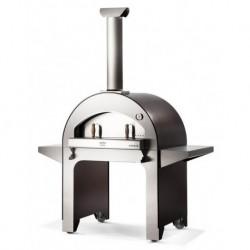 AlfaForni Forno per Pizza 4 PIZZE con Base colore Grigio a Legna