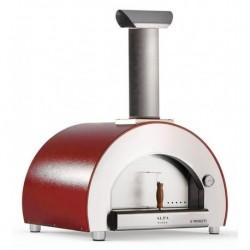 Alfapizza Forno per Pizza 5 MINUTI colore Rosso a Legna