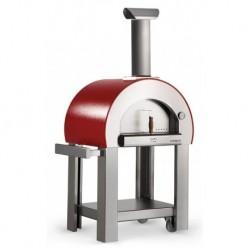 AlfaForni Forno per Pizza 5 MINUTI con Base colore Rosso a Legna