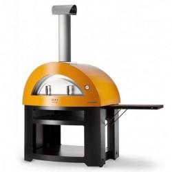 AlfaForni Forno per Pizza ALLEGRO con Base colore Giallo a Legna