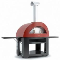 AlfaForni Forno per Pizza ALLEGRO con Base colore Rosso a Legna