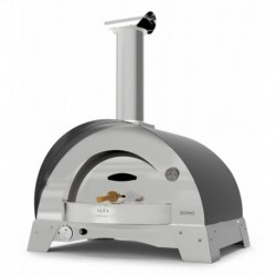 AlfaForni Forno per Pizza DOMO HYBRID colore Grigio a Gas Metano