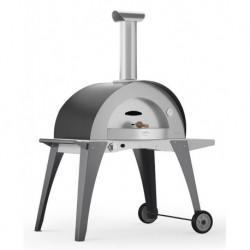 Alfapizza Forno per Pizza DOMO HYBRID con Base colore Grigio a Gas Metano
