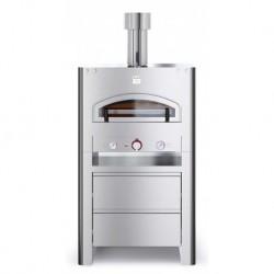 AlfaForni Forno per Pizza Professionale Compact Flame QUBO 90 con Base a Gas GPL