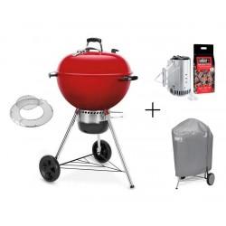 PROMO Barbecue Weber a Carbone Master-Touch 57 cm GBS Red Limited Edition Cod. 14615504 e Kit Ciminiera 17631 e Custodia 7176