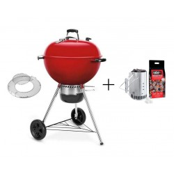 PROMO Barbecue Weber a Carbone Master-Touch 57 cm GBS Red Limited Edition Cod. 14615504 e Kit Ciminiera Cod. 17631