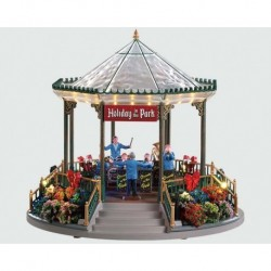 Holiday Garden Green Bandstand, con Alimentatore 4.5V Cod. 94551