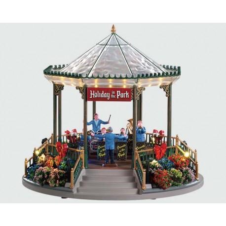 Holiday Garden Green Bandstand, con Alimentatore 4.5V Cod. 94551