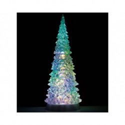 Crystal Lighted Tree, 4 Color Changeable & Color Transformation, Xl, B/O (4.5V) Cod. 94510