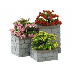 Flower Bed Boxes, Set Of 3 Cod. 84380