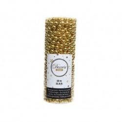 Ghirlanda di perle in plastica Oro Lucente dim 0.8x1000 cm