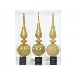 Puntale in vetro Oro dim 8x31 cm Pezzo Singolo
