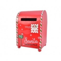 Cassetta della posta di Babbo Natale Rosso dim 14x13x19 cm