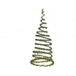 Albero di Natale a Spirale da appendere Luminoso Verde dim 97 cm