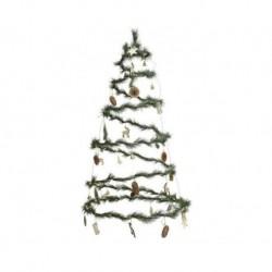 Albero di Natale a Spirale da appendere Luminoso Bianco dim 58 cm