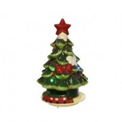 Albero di Natale con luci dim 15x15x25 cm-6L