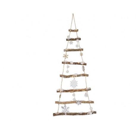Albero di Natale Stilizzato con Neve e Luci Bianco dim 2x45x100 cm