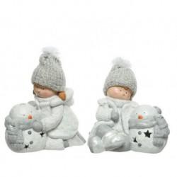 Bambini con porta candela Bianco dim 30.5x17x31 cm 29x26x28.5 cm Pezzo Singolo