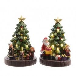Alberi di Natale luminosi Bianco dim 10x8.5x15.5-8L Pezzo Singolo