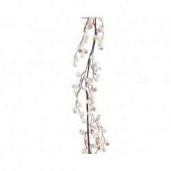 Ghirlanda da appendere con neve Perla dim 7x20x180 cm