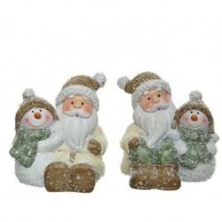 Babbo Natale dim 8x8.5 cm Pezzo Singolo