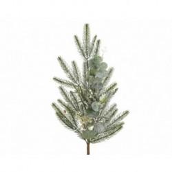 Ramo innevato Verde/Bianco dim 8x10x78 cm