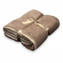 Plaid Coby 130 x 160 cm Colore Warm Taupe