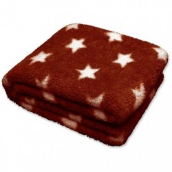 Plaid Stars Throw 150 x 200 cm Colore Clay Red