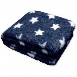 Plaid Stars Throw 150 x 200 cm Colore Dark Blu