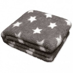 Plaid Stars Throw 150 x 200 cm Colore Nickel Grey