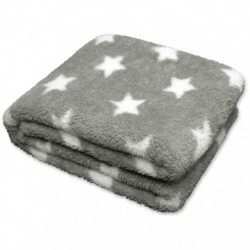 Plaid Stars Throw 150 x 200 cm Colore Grey