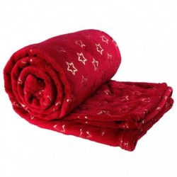 Plaid Throw Golden Star 130 x 160 cm Colore Red