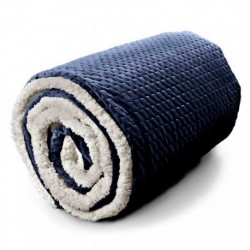 Plaid Throw Nora 150 x 200 cm Colore Dark Blue