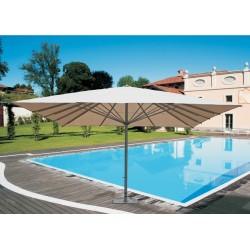 Ombrellone Quadrato 5 x 5 mt Contract Fusto Antracite In Alluminio Con Palo Centrale