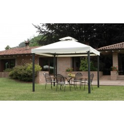 Gazebo 3 x 3 mt In Alluminio Con Camino Antivento