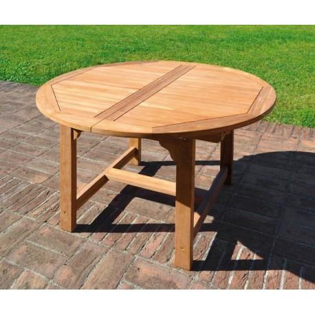 Tavolo capraia allungabile 120 170 x 120 cm in legno di teak for Tavolo legno teak