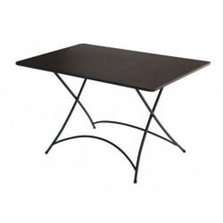 Tavolo Orta Pieghevole 120 x 80 cm In Ferro Con Vernice Antiruggine
