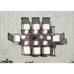 Sedia Gaeta Impilabile Con Braccioli In Alluminio