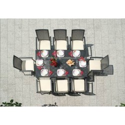 Tavolo Posillipo 180 x 100 cm in Alluminio