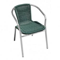 Sedia Impilabile In Alluminio E Filo Plastificato