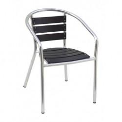 Sedia Impilabile In Alluminio E Resin Wood
